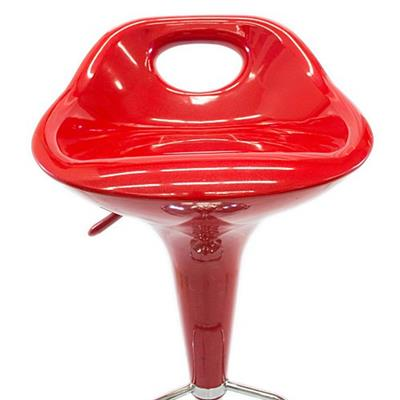 Cadeira Latcor 9005TAI-1 com Assento Giratório de Plástico Vermelha