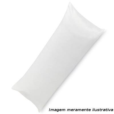 Travesseiro Pelmex Flocos 30x130 cm Macio Espuam Flocada com Proteção Anti-ácaro Anti-mofo e Anti-bactéria