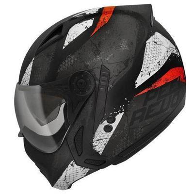 Capacete para Moto Peels Mirage Revo Tamanho 60 Preto e Vermelho