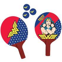 Jogo de Ping Pong 2 Peças Mulher Maravilha Belfix 484500