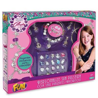 Brinquedo Pulseira Pingentes Coleção de Desejos Grande FUN 7804-5