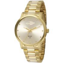854dd9bd8dd Relógio Feminino Mormaii MO2035GN4K Analógico Pulseira de Aço Dourado