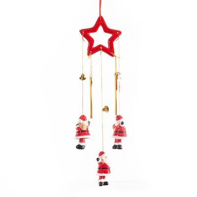 Enfeite Natalino Móbile Papai Noel Santini Christmas 067-910487 Vermelho e Branco