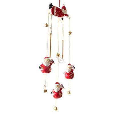Enfeite Natalino Móbile Papai Noel Santini Christmas 067-910488 Vermelho e Branco