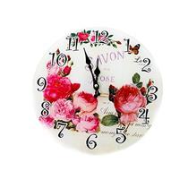 Relógio de Parede Latcor LA3-5174 com Maquinismo Pequeno Ilustração Rosas