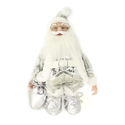 Papai Noel Decoração de Natal Santini Christmas 048-454200SM Prata