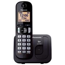 Telefone Sem Fio Panasonic Dect TGC210 com Viva-voz Bivolt Preto