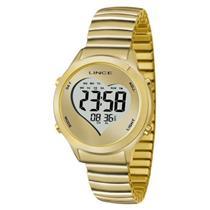 f8150045a6b Relógio Feminino Lince SDPH064L BCKX Digital Pulseira de Aço Dourado