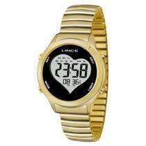 08d56043cef Relógio Feminino Lince SDPH065L BPKX Digital Pulseira de Aço Dourado