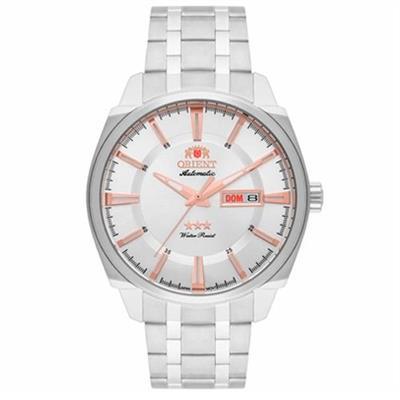 Relógio Masculino Orient 469SS072 S1SX Analógico Pulseira de Aço Prata