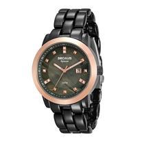 Relógio Feminino Seculus 20422LPSVUA6 Analógico Pulseira de Aço Preto