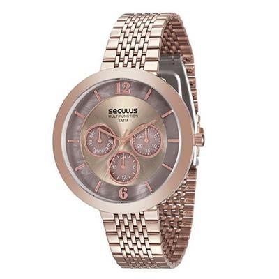 Relógio Feminino Seculus 20541LPSVRS3 Analógico Pulseira de Aço Rosè