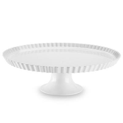 Prato com Pé com Borda para Buffet Haus 50301/012 Melanina Branco