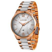 a1e7c0ccdfd Relógio Feminino Lince LRT4444L B2RB Analógico Pulseira de Aço Dourado e  Branco
