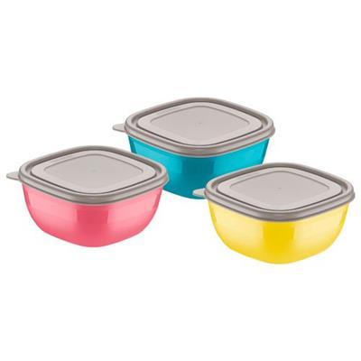 Conjunto de Depósitos Bowls 3 Peças Tramontina Mix Color Mis 25099/947 Plástico