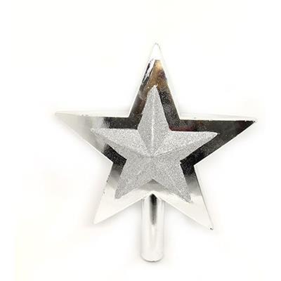 Ponteira de Estrela para Árvore de Natal Santini 047-955476 Prata