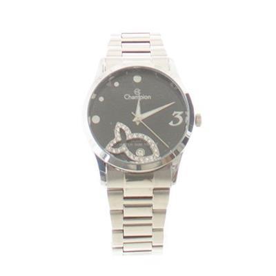 Relógio Feminino Champion com Kit CH25865C Analógico Pulseia de Aço Prateado