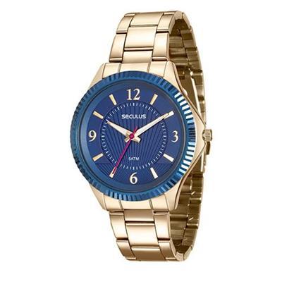Relógio Feminino Seculus 20545LPSVDS1 Analógico Pulseira de Aço Dourado
