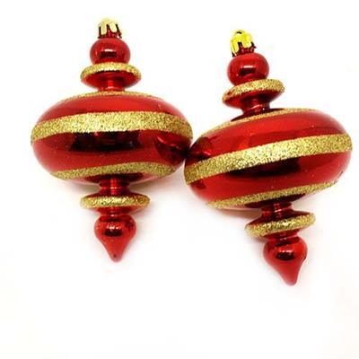 Adorno Natalino para Árvore Santini Christmas 048-956407 Vermelho e Dourado