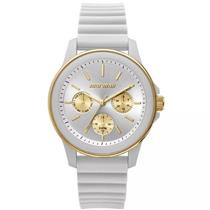 4fb7056c22d Relógio Feminino Mormaii MO6P29AE8B Analógico Pulseira de Silicone Branco