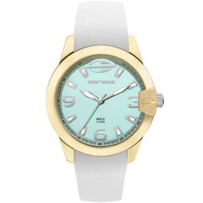 Relógio Feminino Mormaii MO2035IV8V Analógico Pulseira de Silicone Branco