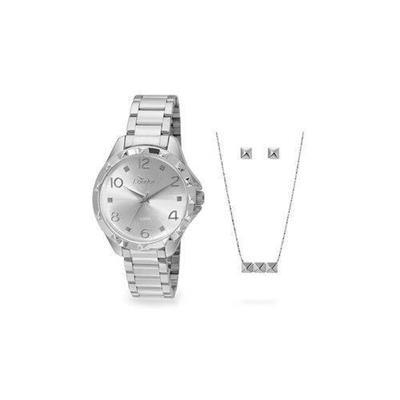 5672ca3c9727b Relógio Feminino Condor CO2035KSMK3B Analógico Pulseira de Aço Prata com Kit