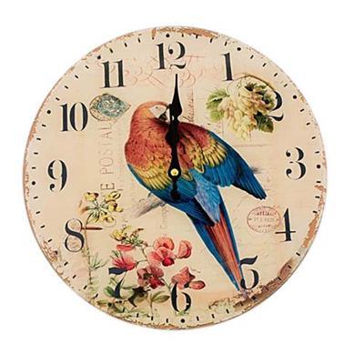 b46766c739b Relógio de Parede Redondo Latcor LA3-1635 Arara Vermelha com Maquinismo de  Pequeno Volume Bege com Ilustração