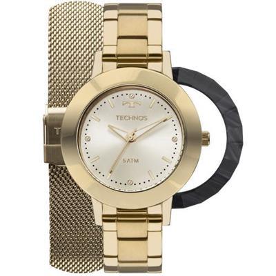 0ac604944d7 Relógio Feminino Technos 2035MLJT4X Analógico Pulseira de Aço .