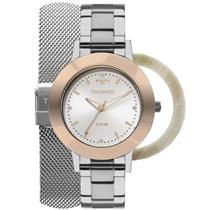Relógio Feminino Technos 2035MLKT1K Analógico Pulseira de Aço Prata 409d5206d5