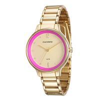 fa0a46e4286 Relógio Feminino Mondaine 53567LPMVDE1 Analógico Pulseira de Aço Dourado