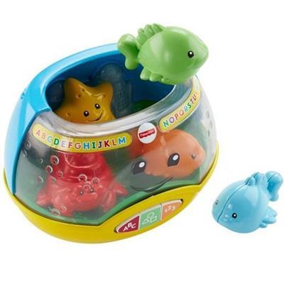 Brinquedo Laugh & Learn Aquário Luzes Mattel Fisher Price FHC76 Plástico 34cm