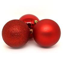 Bolas de Natal com 6 Peças Santini 048-956183SD Vermelho