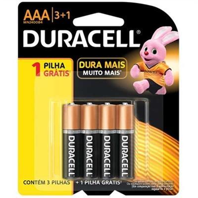 Pilha Alcalina Duracell AAA L4P3 Palito