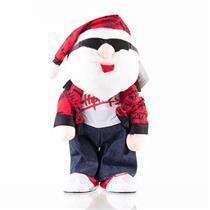 Enfeite Natalino Papai Noel Moderno Santini Christmas 048-246549 Vermelho e Branco