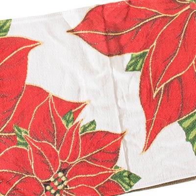 Trilho de Mesa Retangular Santini Christmas 048-283910 Tamanho 33x180cm Poliéster