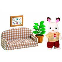 Brinquedo Conjunto Pai Coelho Chocolate e Sofá Epoch 5013