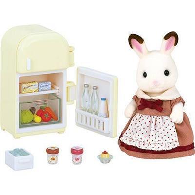 Brinquedo Conjunto Mãe Coelho Chocolate e Geladeira Epoch 5014
