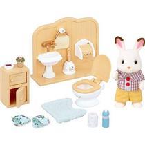 Brinquedo Conjunto Irmão Coelho Chocolate e Toalete Epoch 5015