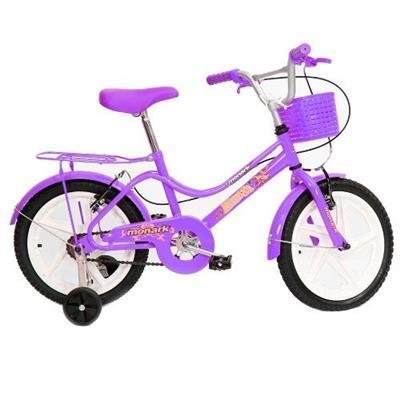 Bicicleta Monark Brisa Aro 16 com Rodinhas Violeta