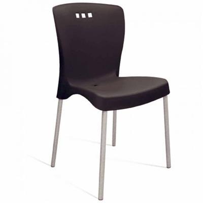 Cadeira Tramontina Mona 92052/009 Pernas Polidas Plástico Suporta até 120 Kg Preto