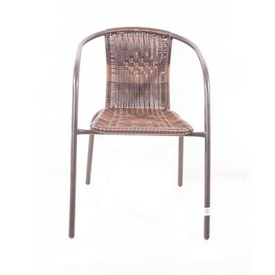Cadeira Latcor LATC-004 Metal e Plástico Marrom