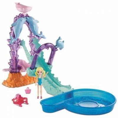 Conjunto Polly Pocket Escorregador de Golfinhos Mattel FNH13 Plástico 28cm