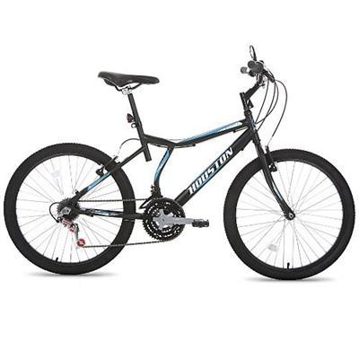 Bicicleta Houston Atlantis Land Aro 24 Preto Fosco