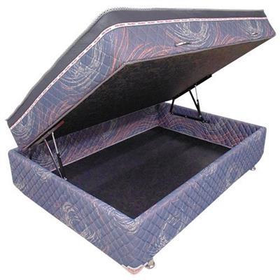 Cama Box Pelmex Molas Bonnel 140x190x63cm com Baú