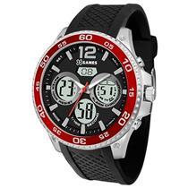 Relógio Masculino XGames XMSPA023 PVPX Analógico e Digital Pulseira de Silicone Preto