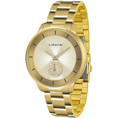 Relógio Feminino Lince LRGH067L C1KX Analógico Pulseira de Aço Dourado 80266813df