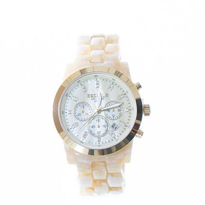 Relógio Feminino Seculus 20628LPSVDF1 Analógico Pulseira de Resina Branco