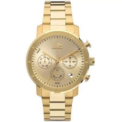 e735e3d45fa Relógio Feminino Mormaii MOJP25CAQ4D Analógico Pulseira de Aço Dourado