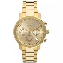 f08b902cd92e0 Relógio Feminino Mormaii MOJP25CAQ4D Analógico Pulseira de Aço Dourado