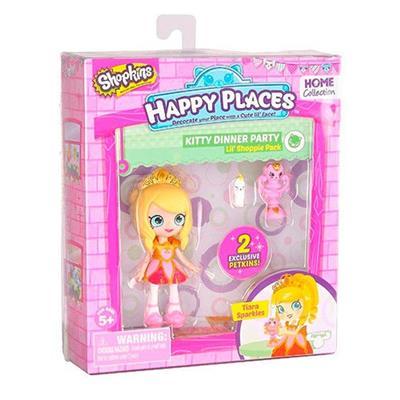 Conjunto DTC Happy Places Kit Mini Shoppies 4479 Plástico 29cm